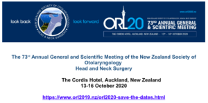 73rd Annual General and Scientific Meeting of the New Zealand Society of Otolaryngology, Head and Neck Surgery @ The Cordis Hotel, Auckland, New Zealand | Auckland | Auckland | New Zealand