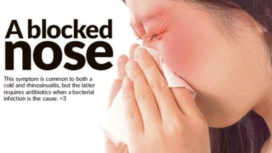Photo of A blocked nose